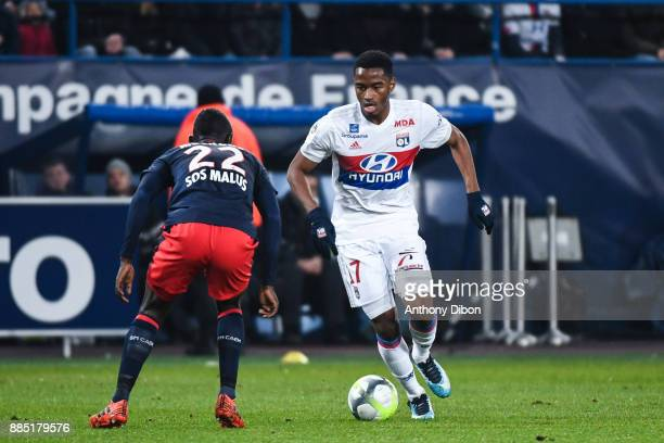 Myziane Maolida of Lyon during the Ligue 1 match between SM Caen and Olympique Lyonnais at Stade Michel D'Ornano on December 3 2017 in Caen