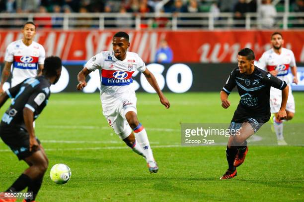 Myziane Maolida of Lyon during the Ligue 1 match between Troyes AC and Olympique Lyonnais at Stade de l'Aube on October 22 2017 in Troyes