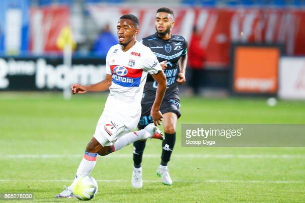 17 Myziane Maolida of Lyon during the Ligue 1 match between Troyes AC and Olympique Lyonnais at Stade de l'Aube on October 22 2017 in Troyes