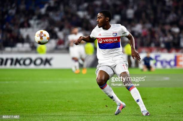 Myziane Maolida of Lyon during the Uefa Europa League match between Lyon and Atalante Bergame on September 28 2017 in Lyon France