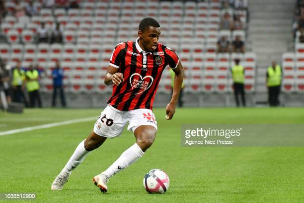 Myziane Maolida of Nice during the French Ligue 1 match between Nice and Rennes on September 14 2018 in Nice France
