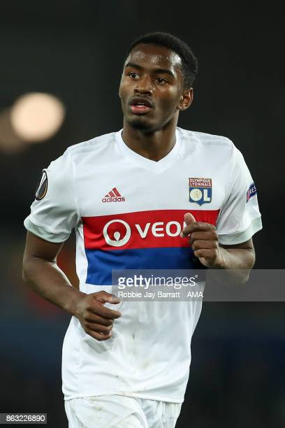 Myziane Maolida of Olympique Lyonnais during the UEFA Europa League group E match between Everton FC and Olympique Lyon at Goodison Park on October...