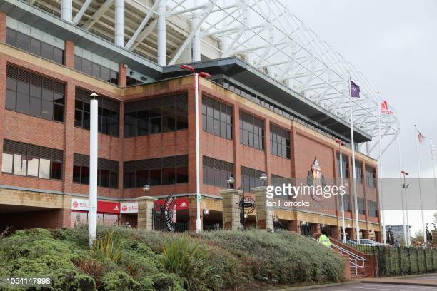 A n exterior view of the stadium during the Sky Bet League One match between Sunderland and Southend United at Stadium of Light on October 27 2018 in...