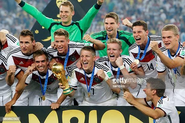 N. Verlängerung - Finale final wolrdcup Germany Argentina 1:0 after extratime Fussball Weltmeisterschaft 2014 in Brasilien FIFA Football Wolrd cup...