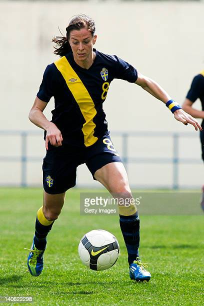 n8 Lotta Schelin of Sweden during the Women Algarve Cup match between Iceland and Sweden on March 2 2012 in Portimao Portugal