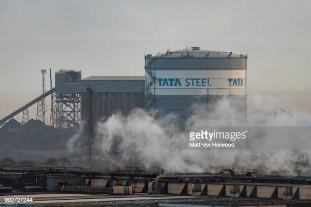 nA general view of Tata Steel steelworks on March 27 2018 in Port Talbot United Kingdom Tata and ThyssenKrupp have announced plans to merge the...