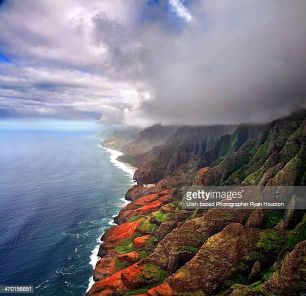 Na Pali Coast from Helicopter Seat Kauai, Hawaii