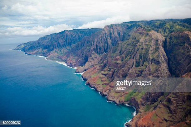 na pali coast kauai island, hawaii islands - na pali coast stock photos and pictures