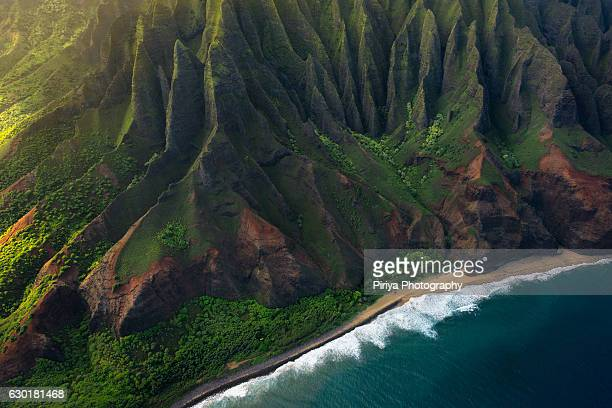 na pali coast - hawaii islands stock pictures, royalty-free photos & images