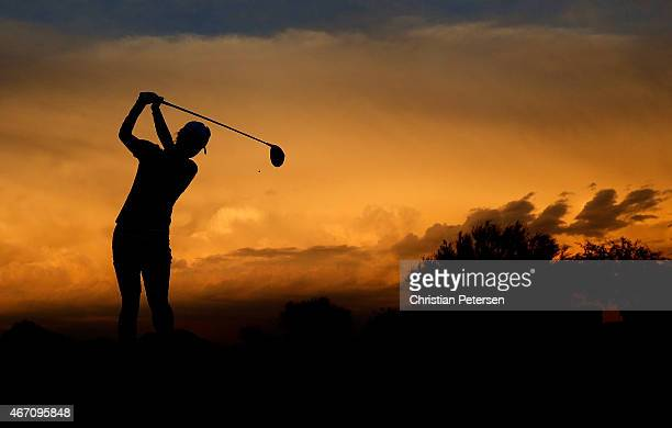 Na Yeon Choi of South Korea hits a tee shot on the 10th hole during the second round of the LPGA Founders Cup at Wildfire Golf Club on March 20, 2015...