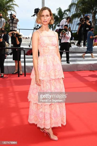 """Naama Preis attends the """"Le Genou D'Ahed """" screening during the 74th annual Cannes Film Festival on July 07, 2021 in Cannes, France."""