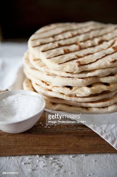 Naan bread with salt