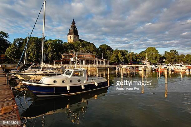 naantali marina near turku - turku finland stockfoto's en -beelden