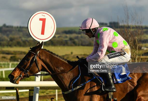 Naas Ireland 5 February 2017 Douvan with Ruby Walsh up on their way to winning the BoyleSports Tied Cottage Steeplechase at Punchestown Racecourse in...