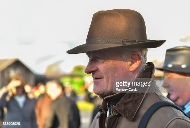Naas Ireland 5 February 2017 Trainer Willie Mullins after sending out Douvan to win the BoyleSports Tied Cottage Steeplechase at Punchestown...