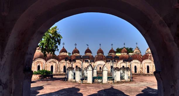 Naba Kailash temple dedicated to Lord Shiva in  Kalna city, India