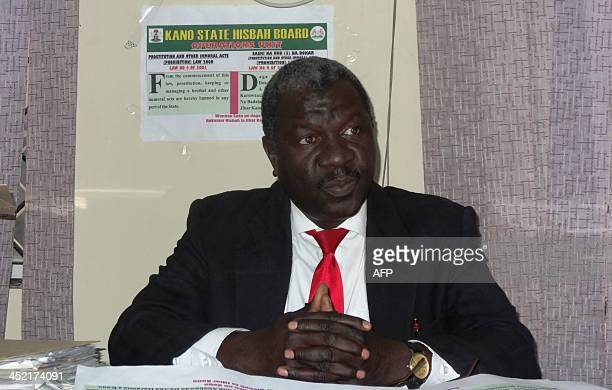 Nabahani Usman Deputy Commander General of sharia enforcers called Hisbah sits in his office in the northern Nigerian city of Kano on October 28 2013...
