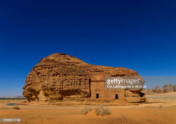 Nabataean tomb in al-Hijr archaeological site in Madain Saleh, Al Madinah Province, Alula, Saudi Arabia on January 23, 2010 in Alula, Saudi Arabia.