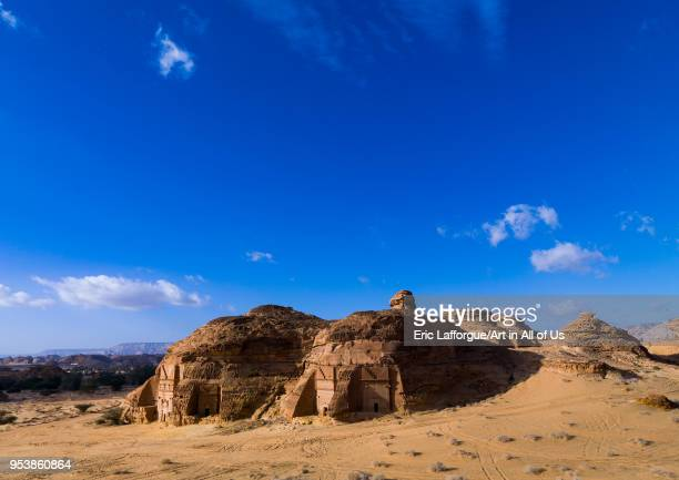 Nabataean tomb in madain saleh archaeologic site, Al Madinah Province, Al-Ula, Saudi Arabia on January 23, 2010 in Al-ula, Saudi Arabia.