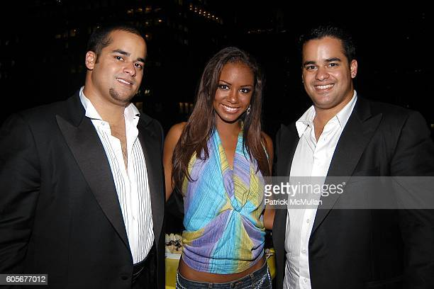 Nabeel Ansari Shequita Bennett Miss Northern Marianas and Fifal Ansari attend Miss Universe Post Pageant VIP Party hosted by Chuck Nabit Dave Geller...