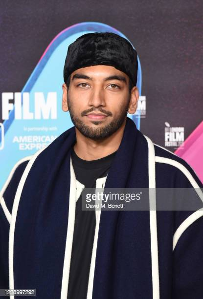 """Nabhaan Rizwan attends the Premiere of """"Mogul Mowgli"""" during the 64th BFI London Film Festival at BFI Southbank on October 10, 2020 in London,..."""