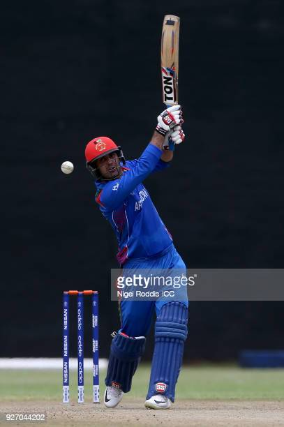 Nabi of Afghanistan during the ICC Cricket World Cup Qualifier between Afghanistan and Scotland at the BAC Stadium on March 4 2018 in Bulawayo...