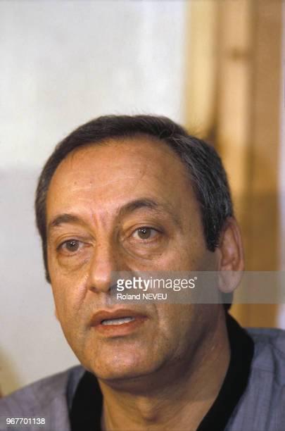 Nabih Berri chef du mouvement Amal le 26 juin 1985 à Beyrouth au Liban