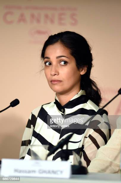 Nabiha Akkari attends the 'Happy End' press conference during the 70th annual Cannes Film Festival on May 22 2017 in Cannes France