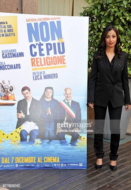 Nabiha Akkari attends the 'Non C'e' Piu' Religione' Photocall In Rome on December 5 2016 in Rome Italy
