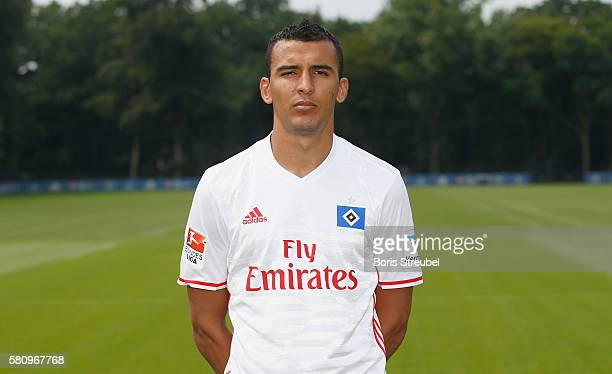 Nabil Bahoui of Hamburger SV poses during the Hamburger SV Team Presentation at Volksparkstadion on July 25 2016 in Hamburg Germany
