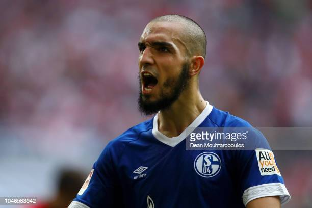 Nabil Bentaleb of FC Schalke 04 celebrates during the Bundesliga match between Fortuna Duesseldorf and FC Schalke 04 at EspritArena on October 6 2018...
