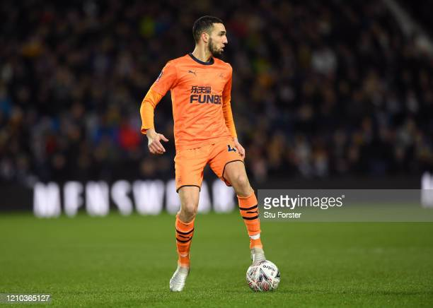 Nabil Bentaleb of Newcastle United in action during the FA Cup Fifth Round match between West Bromwich Albion and Newcastle United at The Hawthorns...