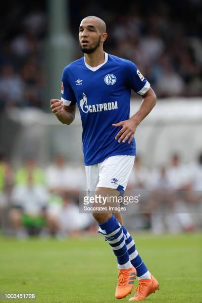 Nabil Bentaleb of Schalke 04 during the Club Friendly match between Schalke 04 v Schwarz Weiss Essen at the Uhlenkrugstadion on July 21 2018 in Essen...