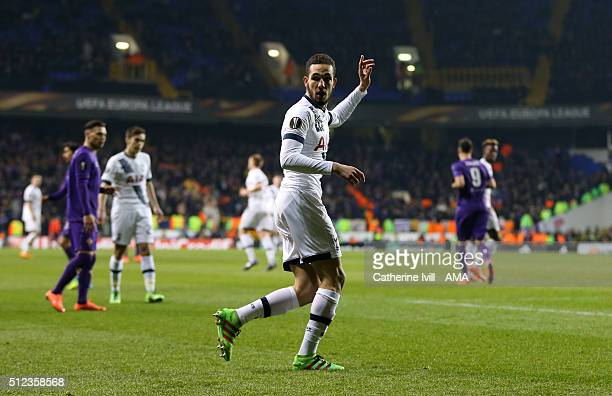 Nabil Bentaleb of Tottenham Hotspur during the UEFA Europa League match between Tottenham Hotspur and Fiorentina at White Hart Lane on February 25...