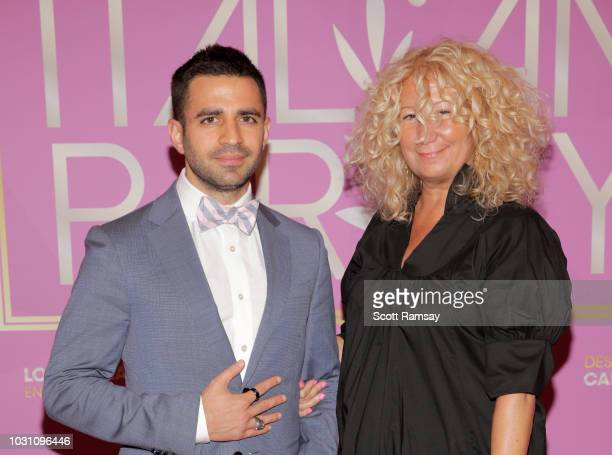Nabil Dalle and Gigi B attend The Italian Party during 2018 Toronto International Film Festival celebrating Excelsis movie at Aqualina at Bayside on...
