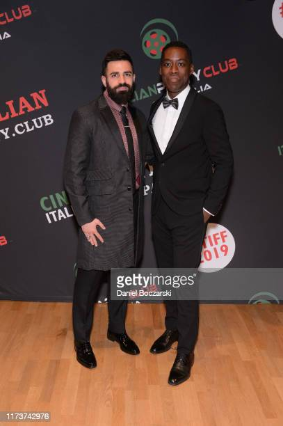 Nabil Dalle and Jaze Bordeaux attend the Italian Party Club at TIFF 2019 at Artscape Daniels on September 10 2019 in Toronto Canada