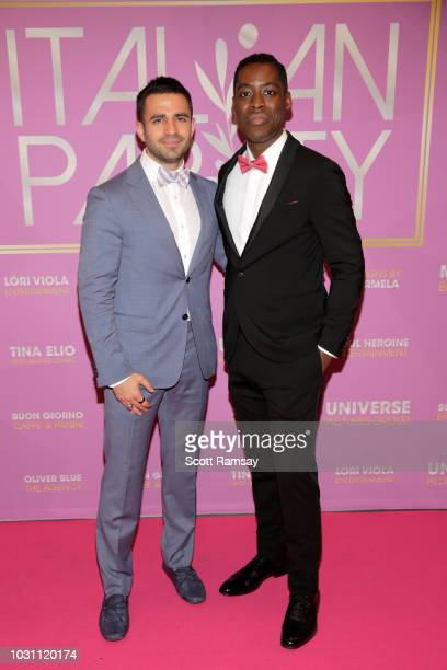Nabil Dalle and Jaze Bordeaux attend The Italian Party during 2018 Toronto International Film Festival celebrating Excelsis movie at Aqualina at...