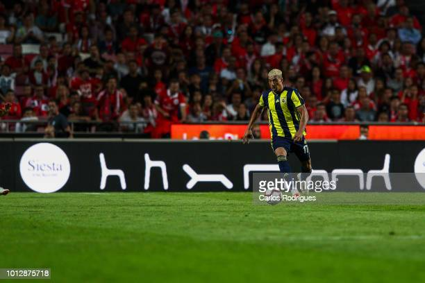 Nabil Dirar of Fenerbache SK during the match between SL Benfica and Fenerbache SK for UEFA Champions League Qualifier at Estadio da Luz on August 7...