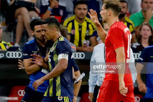 Nabil Dirar of Fenerbahce during the Audi Cup match between Bayern Munchen v Fenerbahce at the Allianz Arena on July 30, 2019 in Munich Germany