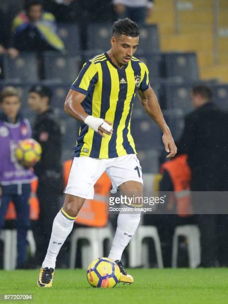 Nabil Dirar of Fenerbahce during the Turkish Super lig match between Fenerbahce v Sivasspor at the Sukru Saracoglustadion on November 19 2017 in...