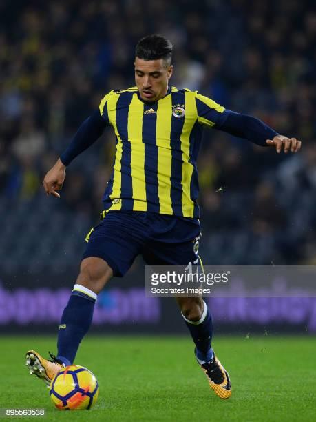 Nabil Dirar of Fenerbahce during the Turkish Super lig match between Fenerbahce v Karabukspor at the Sukru Saracoglustadion on December 18 2017 in...