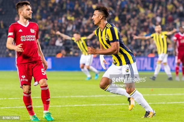 Nabil Dirar of Fenerbahce SK during the Turkish Spor Toto Super Lig football match between Fenerbahce and Demir Grup Sivasspor on November 19 2017 at...