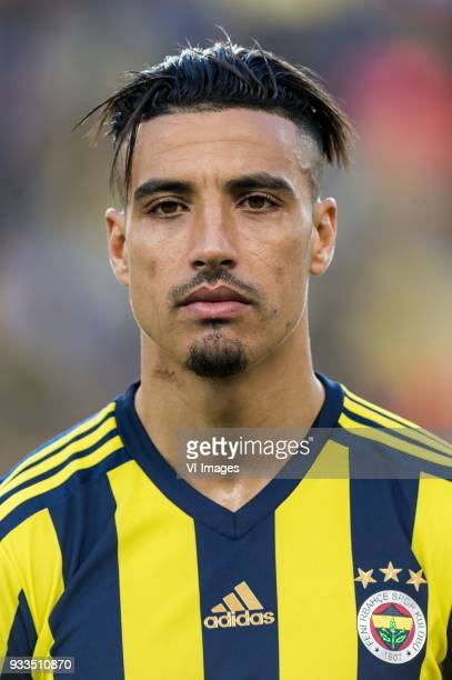Nabil Dirar of Fenerbahce SK during the Turkish Spor Toto Super Lig match Fenerbahce AS and Galatasaray AS at the Sukru Saracoglu Stadium on March 17...