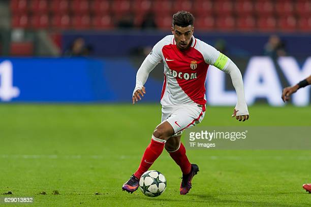 Nabil Dirar of Monaco in action during the UEFA Champions League match between Bayer Leverkusen and AS Monaco at the BayArena in Leverkusen Germany...