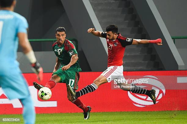 Nabil Dirar of Morocco during the Quarter Final African Nations Cup match between Morocco and Egypt on January 29 2017 in Port Gentil Gabon