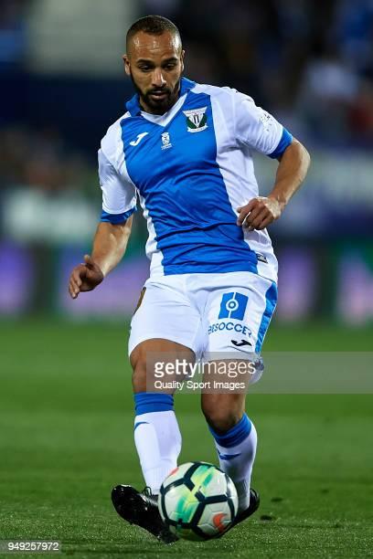 Nabil El Zhar of Leganes in action during the La Liga match between Leganes and Deportivo La Coruna at Estadio Municipal de Butarque on April 20 2018...