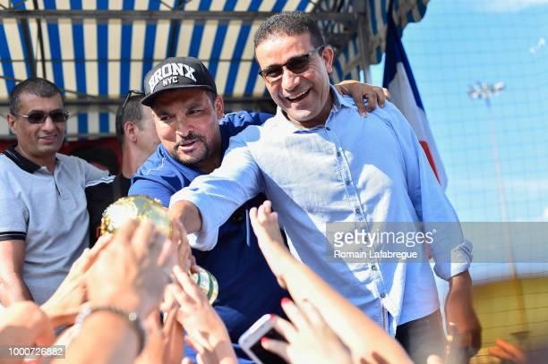 Nabil Fekir celebrates victory in World Cup in his hometown on July 17 2018 in Villeurbanne France