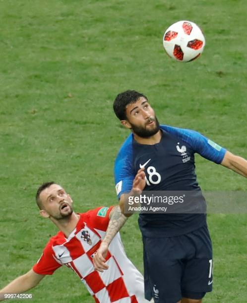 Nabil Fekir of Croatia in action during the 2018 FIFA World Cup Russia final match between France and Croatia at the Luzhniki Stadium in Moscow...