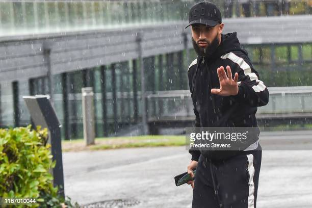 Nabil Fekir of France arrives ahead of a training session on November 11 2019 in Clairefontaine France France will play against Moldova in their UEFA...