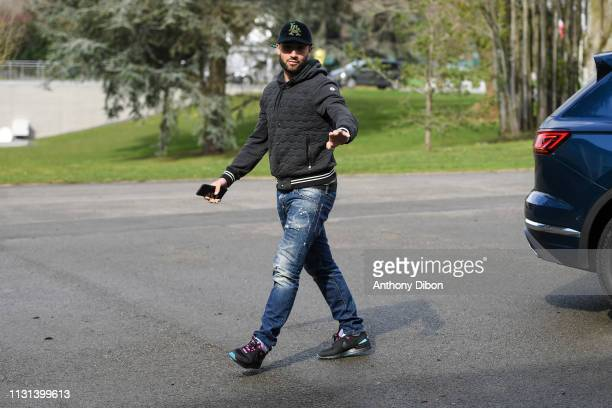 Nabil Fekir of France arrives at on March 18 2019 in ClairefontaineenYvelines France